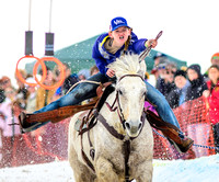 Skijoring in American West